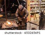 prague  cz   december 15  2016  ... | Shutterstock . vector #653265691
