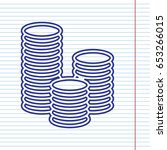 money sign illustration. vector.... | Shutterstock .eps vector #653266015