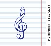 music violin clef sign. g clef. ... | Shutterstock .eps vector #653272255