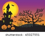 halloween invitation with... | Shutterstock . vector #65327551