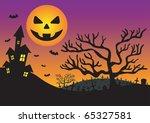 halloween invitation with...   Shutterstock . vector #65327581