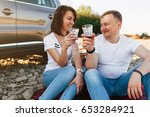 portrait of happy young adult... | Shutterstock . vector #653284921