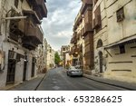 old street in unesco world... | Shutterstock . vector #653286625