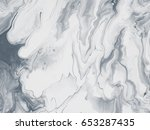 black and white abstract art... | Shutterstock . vector #653287435