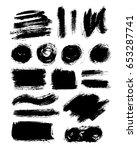 brush strokes isolated. ink...   Shutterstock .eps vector #653287741