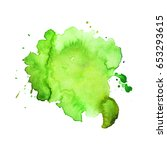 abstract hand drawn watercolor... | Shutterstock .eps vector #653293615