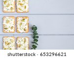 tasty square crackers with... | Shutterstock . vector #653296621