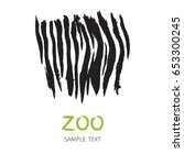 hand drawn zebra skin template. ... | Shutterstock .eps vector #653300245