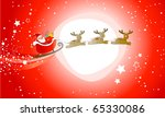 Santa Claus On Red Background...