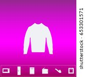 clothing sweater pictogram.... | Shutterstock . vector #653301571