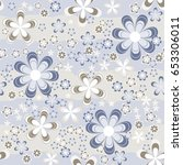 simple floral seamless pattern... | Shutterstock .eps vector #653306011