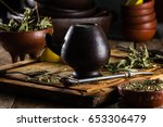 traditional latin american hot... | Shutterstock . vector #653306479