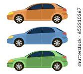 vector set with cars   Shutterstock .eps vector #653310367