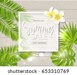 summer sale background with... | Shutterstock .eps vector #653310769