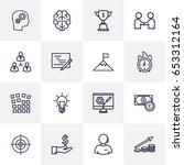 set of 16 business outline... | Shutterstock .eps vector #653312164
