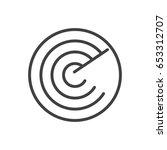 isolted radar outline symbol on ... | Shutterstock .eps vector #653312707