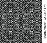 seamless abstract monochrome... | Shutterstock .eps vector #653314174