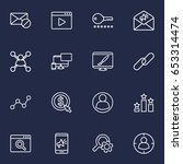 set of 16 engine outline icons...   Shutterstock .eps vector #653314474