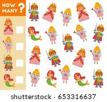 counting game for preschool... | Shutterstock .eps vector #653316637
