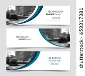 horizontal business banner... | Shutterstock .eps vector #653317381