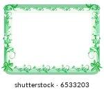 Open Frame With Vintage Floral...