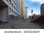 modern residential buildings in ...   Shutterstock . vector #653322829