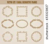 vector set of decorative hand... | Shutterstock .eps vector #653323837