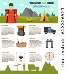 hiking and outdoor set flat... | Shutterstock .eps vector #653326921