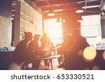 silhouette of startup business... | Shutterstock . vector #653330521