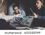 digital business team have... | Shutterstock . vector #653330599