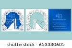 vector illustration postcard.... | Shutterstock .eps vector #653330605