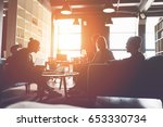 silhouette of business group... | Shutterstock . vector #653330734