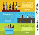 wine tasting bar banner... | Shutterstock .eps vector #653331514