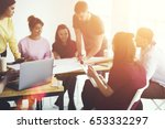 diversity group of talented... | Shutterstock . vector #653332297