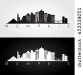 memphis  usa skyline and... | Shutterstock .eps vector #653338051