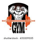 fitness club   center sign  ...   Shutterstock .eps vector #653339335