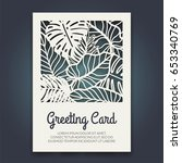 beautiful card with palm tree... | Shutterstock .eps vector #653340769