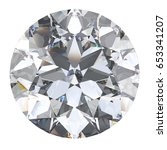 3d illustration oval diamond... | Shutterstock . vector #653341207