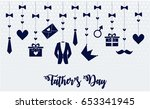 fathers day card or background. ... | Shutterstock .eps vector #653341945