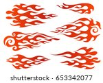red to orange gradient colored... | Shutterstock .eps vector #653342077