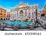 trevi fountain  fontana di... | Shutterstock . vector #653348161