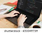 coding code program programming ... | Shutterstock . vector #653349739