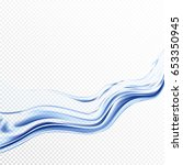 transparent water splashes with ... | Shutterstock .eps vector #653350945