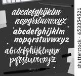 calligraphic vector script... | Shutterstock .eps vector #653354521