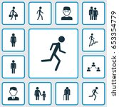 people icons set. collection of ... | Shutterstock .eps vector #653354779