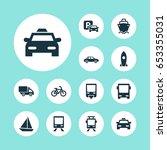 transportation icons set.... | Shutterstock .eps vector #653355031