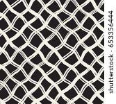 hand drawn seamless plaid... | Shutterstock .eps vector #653356444