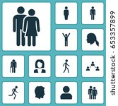 human icons set. collection of... | Shutterstock .eps vector #653357899