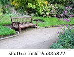 Peaceful Garden Scene With A...
