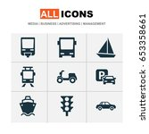 shipment icons set. collection... | Shutterstock .eps vector #653358661